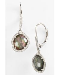 Nadri | Metallic Drop Earrings | Lyst