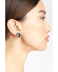 Nadri   Metallic Stud Earrings   Lyst