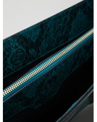 Stella McCartney - Blue Faux Leather Waverley Patchwork Clutch - Lyst