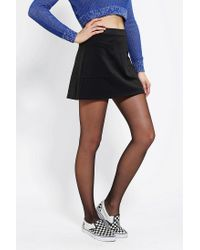 Urban Outfitters | Black Cooperative Pebbled A-line Skirt | Lyst