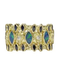 Armenta | Blue Wide Marquis Band Ring | Lyst