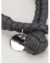 Bottega Veneta - Gray Intrecciato Bracelet - Lyst