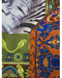 Etro - Green Patterned Scarf for Men - Lyst