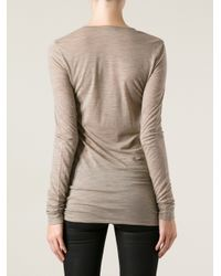 Forte Forte | Natural Knitted Long Sleeve Tshirt | Lyst