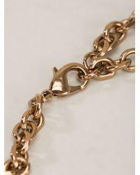 Rada' - Metallic Crystal Ribbon Chain Necklace - Lyst