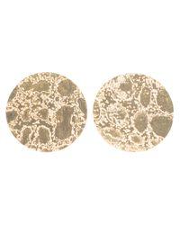 Sara Gunn | Metallic Etched Stud Earrings | Lyst