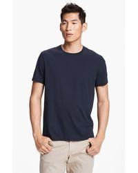 Vince | Blue Pima Cotton Crewneck T-shirt for Men | Lyst