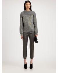 Alexander Wang | Gray Mirrored Sweater | Lyst