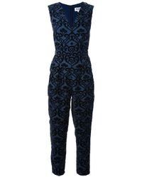 Alice By Temperley | Blue Esme Flocked Pattern Jumpsuit | Lyst