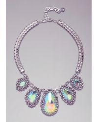 Bebe - Purple Stone Statement Necklace - Lyst