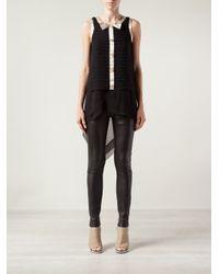 Edward Achour Paris - Black Pleated Dress - Lyst