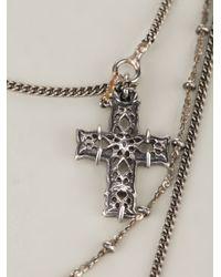 Emanuele Bicocchi - Metallic Mesh Star Necklace - Lyst