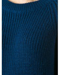 Forte Forte - Blue Ribbed Sweater - Lyst