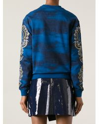 KENZO - Blue Eye Sweatshirt - Lyst
