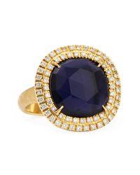 Marco Bicego - Blue Jaipur Sunset 18kt Gold Doublediamond Iolite Ring - Lyst