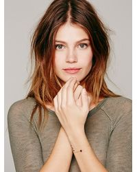 Free People - Purple Crystal Itty Bitty Bracelet - Lyst