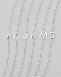 Maya Brenner Designs | Metallic 14K White Gold Letter Bracelet | Lyst