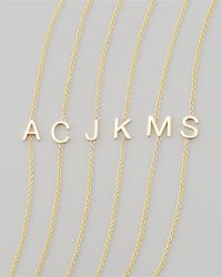 Maya Brenner Designs - Metallic 14K Yellow Gold Letter Bracelet - Lyst