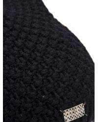 Werkstatt:münchen - Black Cashmere Stud Beanie for Men - Lyst
