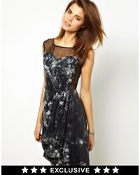 2nd Day - Black Exclusive For Asos Neva Sequinned Dress With Sheer Panelling - Lyst
