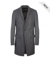AllSaints | Gray Howard Coat for Men | Lyst