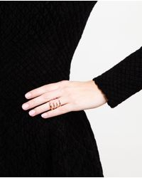 Bijules - Metallic 18k Rose Gold and Ruby Claw Ring - Lyst