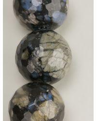 Brunello Cucinelli - Blue Vita Beaded Rhyolite Necklace - Lyst