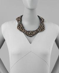 Nakamol - Black Checkered Crystal Bib Necklace Multicolor - Lyst