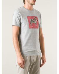 Paul Smith - Gray Zebra Tshirt for Men - Lyst