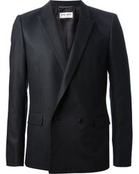 Saint Laurent | Black Double Breasted Blazer for Men | Lyst