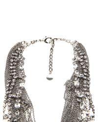 Tom Binns - Metallic Double Row Statement Necklace - Lyst