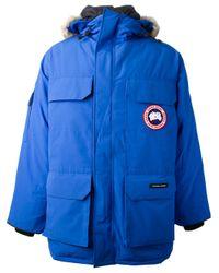 Canada Goose | Blue Hooded Parka for Men | Lyst
