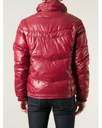 DIESEL - Red Classic Padded Jacket for Men - Lyst