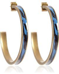 Isabel Marant - Blue Resin Hoop Earrings - Lyst