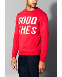 Forever 21 - Red Good Times Sweatshirt for Men - Lyst
