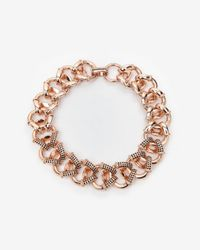 Giles & Brother | Pink Encrusted Cortina Chain Necklace | Lyst