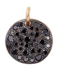 Pomellato | Sabbia 18k Rose Gold & Black Diamond Pendant | Lyst