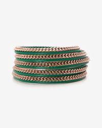 Vita Fede - Green Wrap Bracelet Emeraldrosegold - Lyst