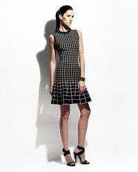 Ohne Titel - White Gradient Grid Knit Aline Dress - Lyst