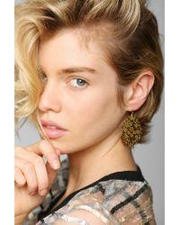 Urban Outfitters - Metallic Delicate Lasercut Filigree Earring - Lyst