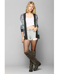 Urban Outfitters - Multicolor Glamorous Diamond Open-front Sweater - Lyst