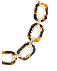 BaubleBar - Metallic Gilded Tortoise Link Collar - Lyst