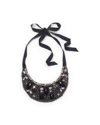 Club Monaco - Black Grace Bib Necklace - Lyst