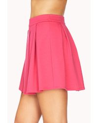 Forever 21 - Pink Must-Have Pleated Skirt - Lyst