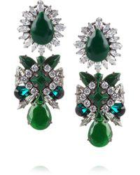 Shourouk | Metallic Crystal Earrings | Lyst