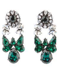 Shourouk - Green Roma Earrings - Lyst