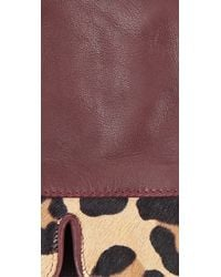 Whistles - Purple Leopard Leather Glove - Lyst