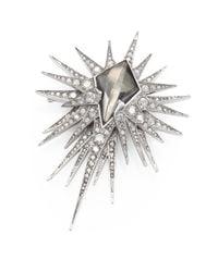 Alexis Bittar | Metallic Pyrite Doublet Crystal Starburst Pin | Lyst