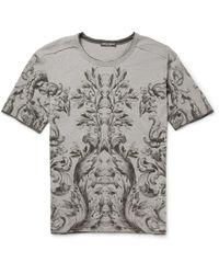 Dolce & Gabbana | White Mosaic Bullfight Cotton T-shirt for Men | Lyst