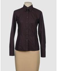 Evisu - Purple Long Sleeve Shirt - Lyst